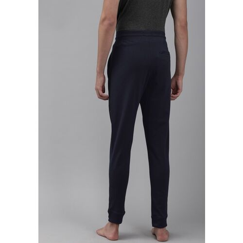 Van Heusen Men Navy Blue Comfortech Solid Pure Cotton Lounge Pants