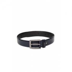 Van Heusen Men Navy Blue Solid Leather Belt