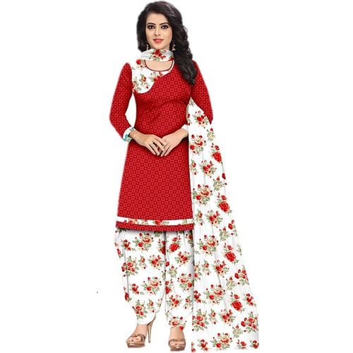 Sastvik Crepe Printed Salwar Suit Material(Unstitched)