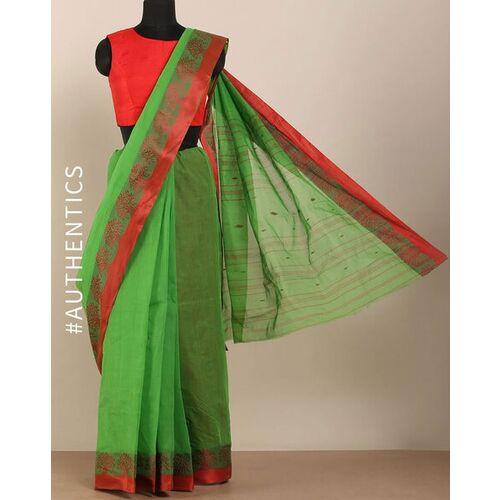 Indie Picks Handloom Bengal Tant Tangail Cotton Saree