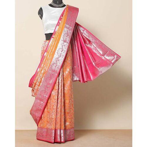 Indie Picks South Silk Soft Brocade Wedding Saree