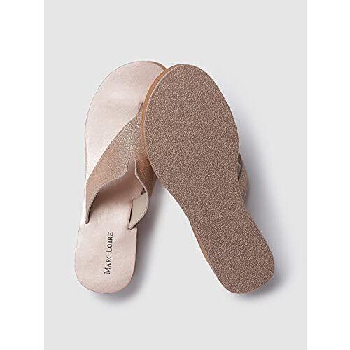 Marc Loire Shimmery T-strap Flatform Sandals