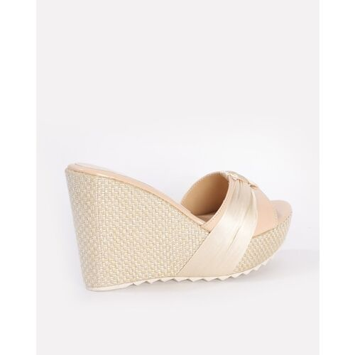 Marc Loire Textured Wedge Heels with Knot Detail