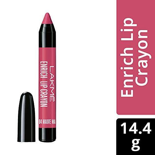 Lakme Enrich Lip Crayon, Mauve Magic, 2.2g And Lakme Enrich Lip Crayon, Berry Red, 2.2 g