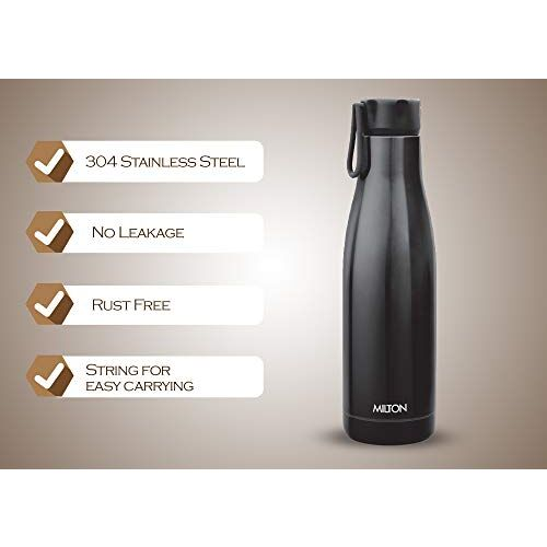 Milton Fame 1000 Thermosteel Vacuum Insulated Stainless Steel 24 Hours Hot and Cold Water Bottle