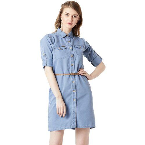 Miss Chase Women A-line Blue Dress