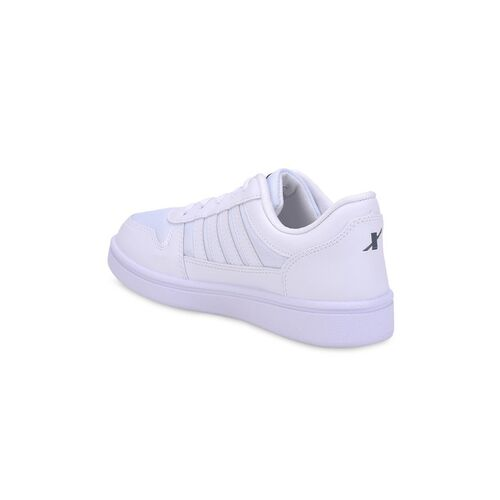 Sparx Men White Solid Sneakers