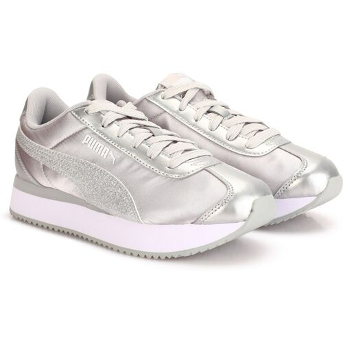 PUMA Turino Stacked Glitter Sneakers For Women(Silver)
