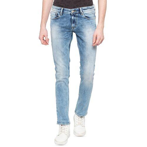Spykar blue heavy washed denim jeans