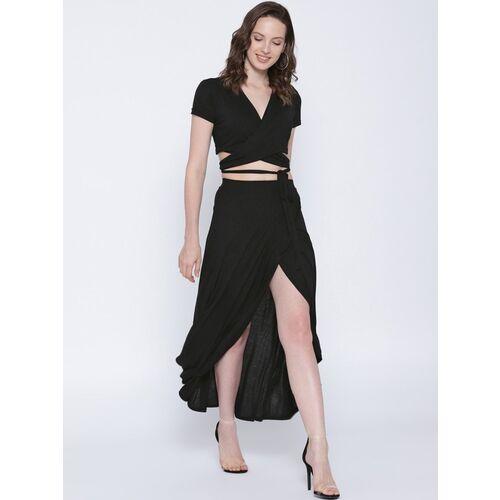 Sera Women Fit and Flare Black Dress