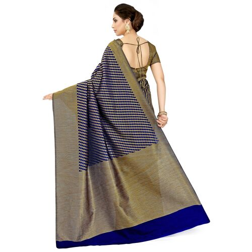 Mimosa self design bordered saree with blouse