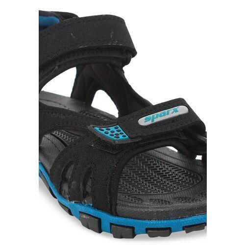 Sparx Men Black & Blue Sports Sandals
