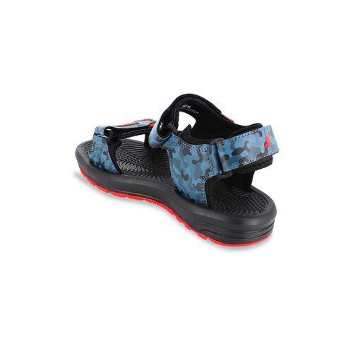 Sparx Men Blue & Black Camouflage Comfort Sandals