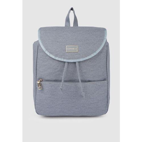 Caprese Women Blue GIA Textured Backpack