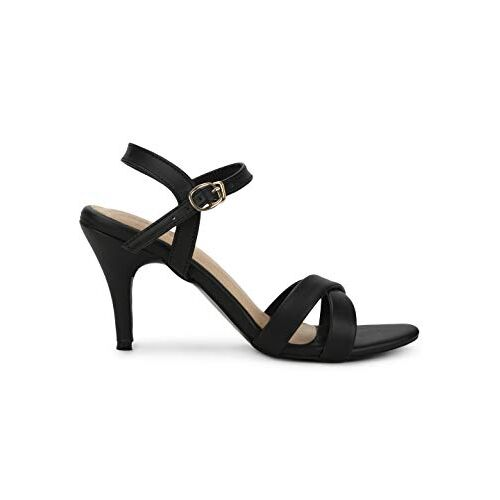 Truffle Collection Strappy Stilettos with Buckle Closure