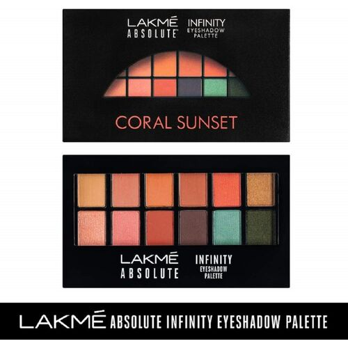 Lakme Absolute Infinity Eye Shadow Palette -Coral Sunset 12 g(Coral Sunset)