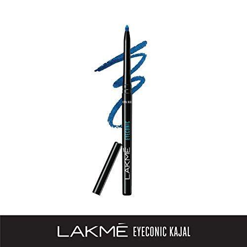 Lakme Rose Face Powder, Warm Pink, 40g And Lakme Eyeconic Kajal, Royal Blue, 0.35g