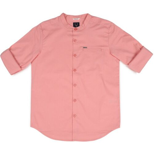 Allen Solly Boys Solid Casual Pink Shirt