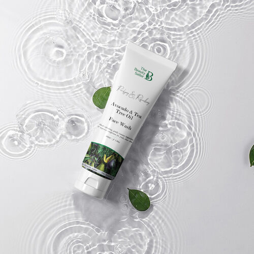 The Beauty Sailor Avocado and Tea Tree Oil Face Wash, Purifying Refreshing, No Paraben No Sulphate 100 ML