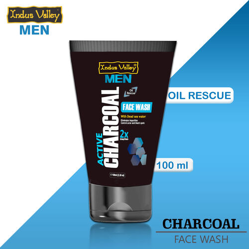 Indus Valley Men Active Charcoal Oil Control Face Wash (100ml)