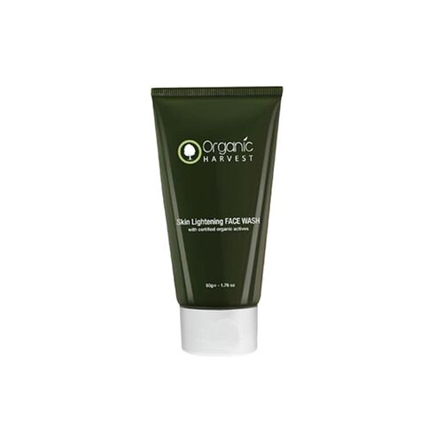 organic harvest face wash for skin lightening, 50g
