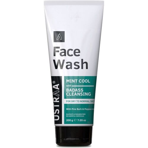 USTRAA Dry Skin (Mint Cool) - 200 g Face Wash(200 g)