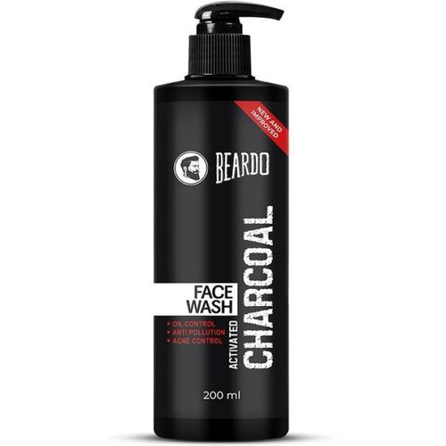 BEARDO Activated Charcoal Anti-Pollution for Deep Pore Cleaning, 200ml   Removes Dirt & Impurities   Suitable for Acne Prone Skin   For Men Face Wash(200 ml)
