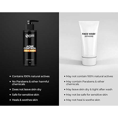 Beardo Acne Control Facewash, 100 gm | Made in India