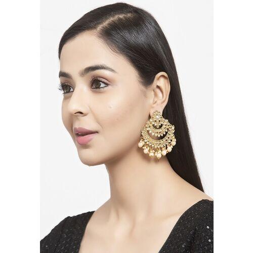 Shining Diva Gold-Plated Contemporary Chandbalis