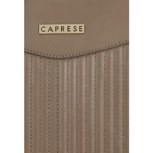 Caprese Women Taupe Striped Shoulder Bag