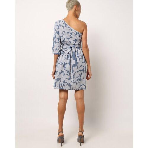 Vero Moda Floral Print A-line One-Shoulder Dress