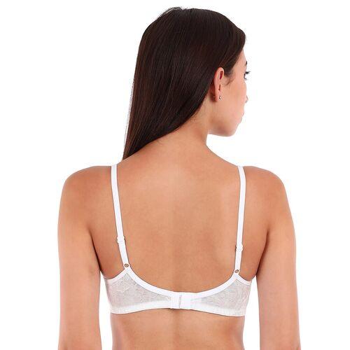 Clovia white lace tshirt bra