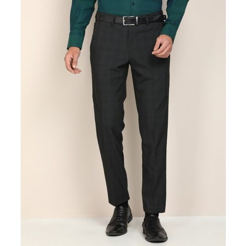VAN HEUSEN Slim Fit Men Grey Trousers
