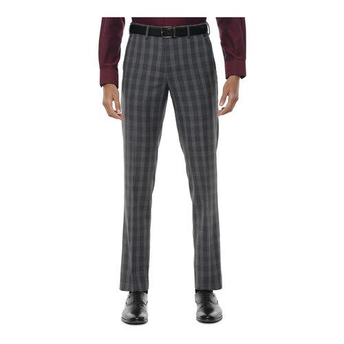 Van Heusen Grey Slim Fit Flat Front Trousers
