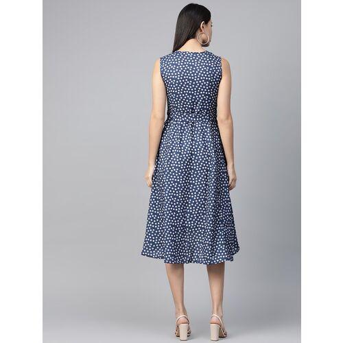 polka dot asymmetric dress