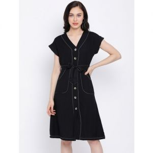 Oxolloxo tie front a-line dress