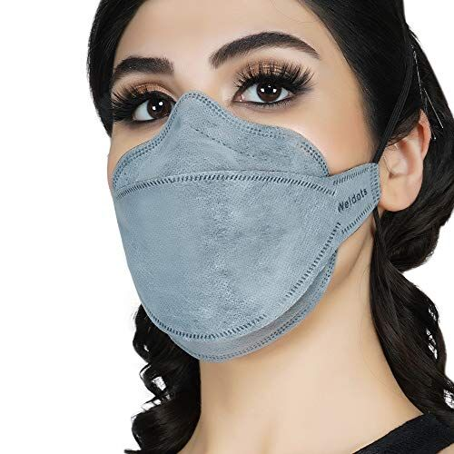 Zero Weldots (Pack of 3) Fender Premium N95 Mask for Men & Women Reusable Face Mask Fish, Willow Shape KF94 Mask 6 Layer DRDO, ISI (BIS) Certified FFP2 Protection