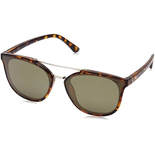 IDEE Mirrored Square Women's Sunglasses - (IDS2366C4SG|61|Gold Mirror-Green Color)