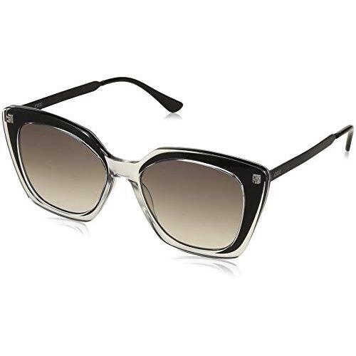 IDEE Mirrored Butterfly Women's Sunglasses - (IDS2432C1SG|54|White Mirror-Smoke Gradient Color Lens)