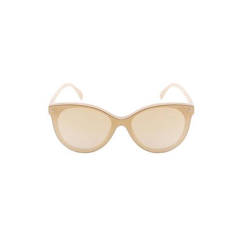 IDEE S2415_C4 Gold Mirrored Cat Eye Sunglasses
