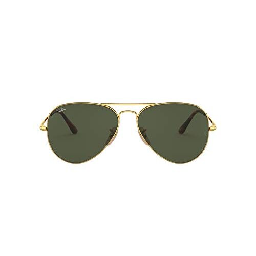 Ray Ban Ray-Ban UV protected Aviator Unisex Sunglasses (0RB3689|57.5 mm|Green)