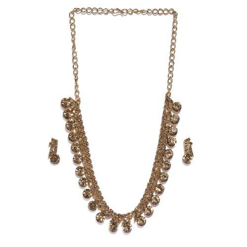 Zaveri Pearls Gold-Plated Stone Studded Jewellery Set