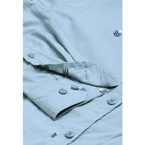 Roadster Men Blue Regular Fit Printed Casual Shirt