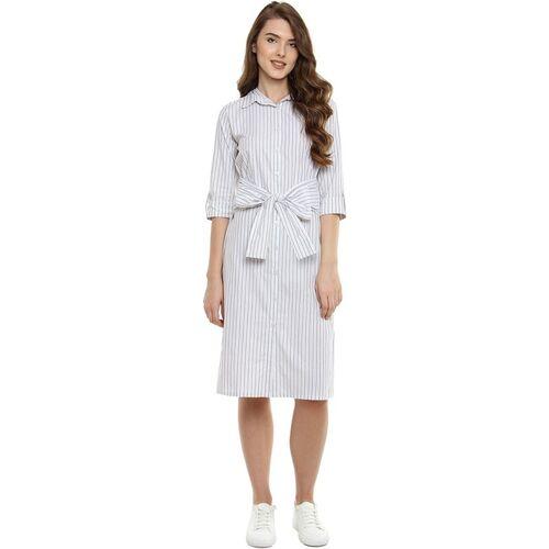 Miss Chase Women Shirt White, Black Dress