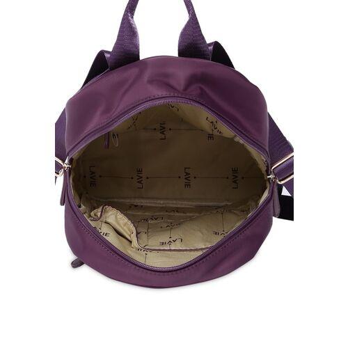 Lavie Women Purple Solid Backpack