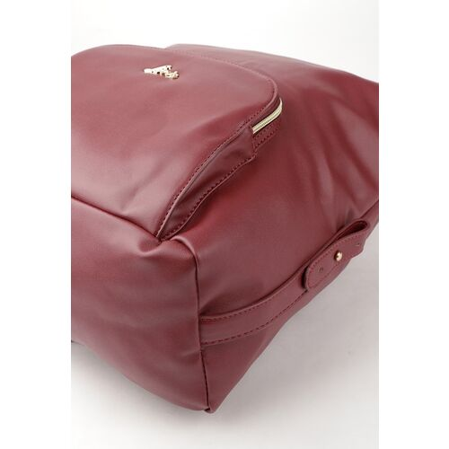 Lavie Women Burgundy Solid Backpack