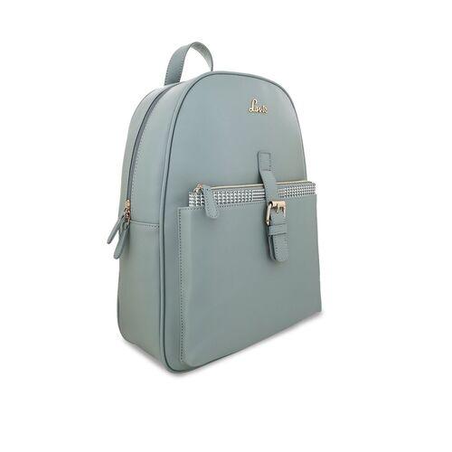 Lavie Women Green Solid Backpack