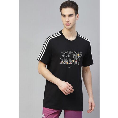 ADIDAS Men ADIDAS X DISNEY Mickey In Motion 3-Stripes Basketball Graphic T-shirt