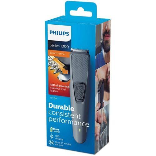 PHILIPS Best Cordless Beard trimmer BT-1210 for man Runtime: 30 min Trimmer for Men(Black)