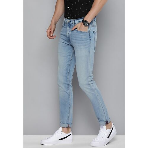 Levi's Levis Men Blue Slim Tapered Fit Mid-Rise Clean Look Jeans